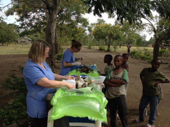 Outdoor surgery in Tanzania
