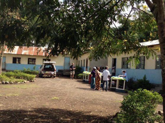 Outdoor vet clinic in Tanzania