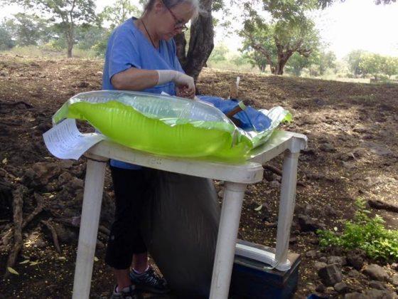 Dr Simard in surgery in Tanzania