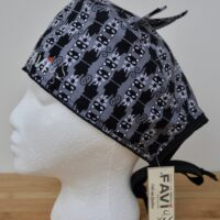 Surgical cap with ears-Aristocats in grey