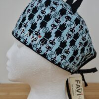 Surgical cap with ears-Aristocats in blue