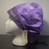 surgical bouffant cap-daisies in mauve