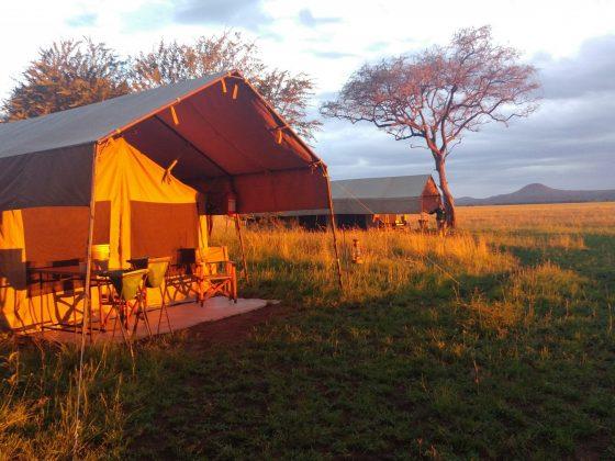 Camping during FVAI safari in Tanzania