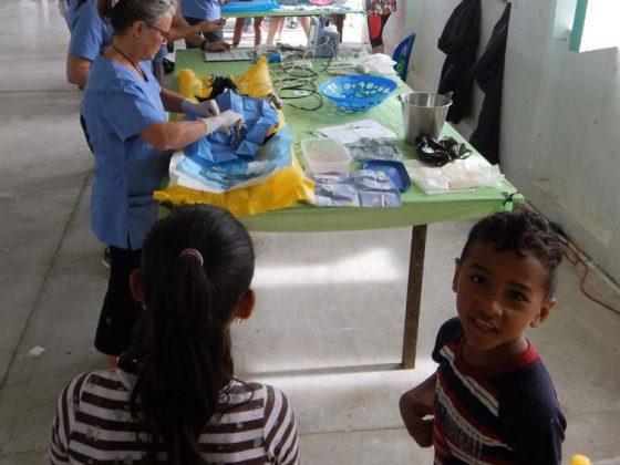 FVAI clinic in Sarteneja community center in Belize