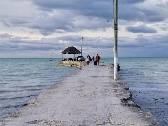 The dock in Sarteneja, Belize