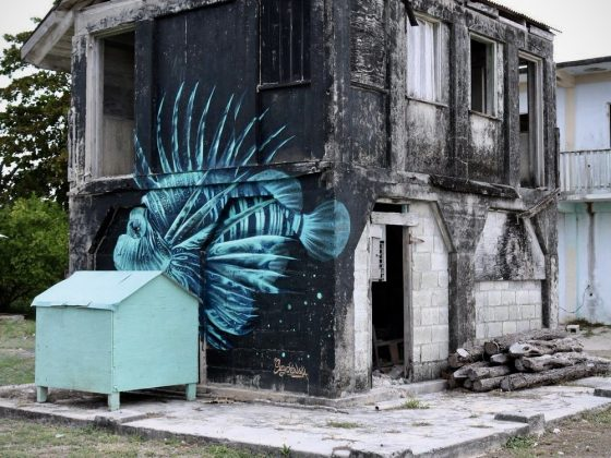 """Street Art"" in Sarteneja, Belize"