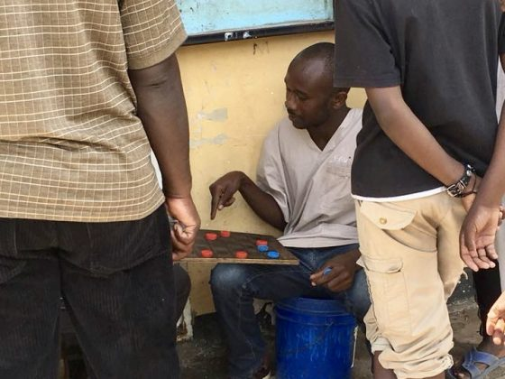 Naftal, our clinic director plays checkers between two surgeries