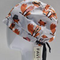semi-bouffant surgical cap-Mr Fox