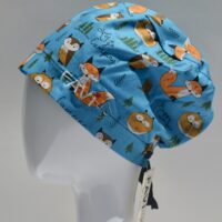 semi-bouffant surgical cap-let's go camping!