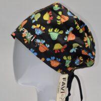 semi-bouffant surgical cap-turtles