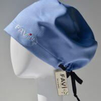 semi-bouffant surgical cap-bright blue