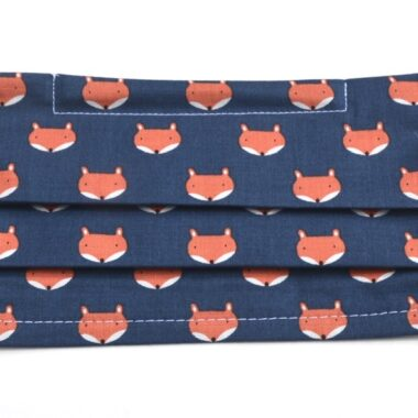 mask with soft elastic bands-foxes in marine