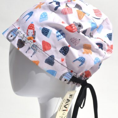 semi-bouffant surgical cap-put your toque on in white