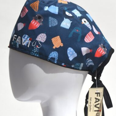surgical cap-put your toque on in blue