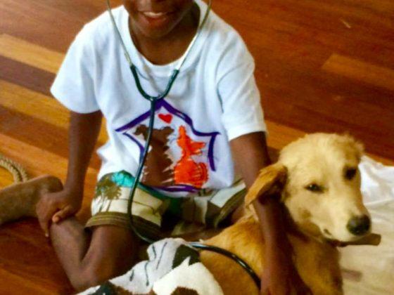 Futur vétérinaire au Belize
