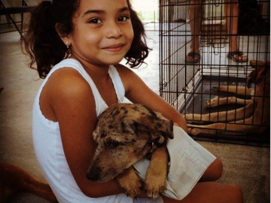 Assistante à la clinique vétérinaire à Sarteneja, Belize