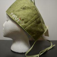 Chapeau de chirurgie Petites Pattes en vert