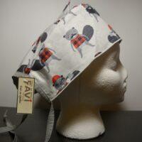 Chapeau de chirurgie Castors-Bûcherons chemise à carreaux
