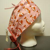 Chapeau de chirurgie Petites Renardes en rose