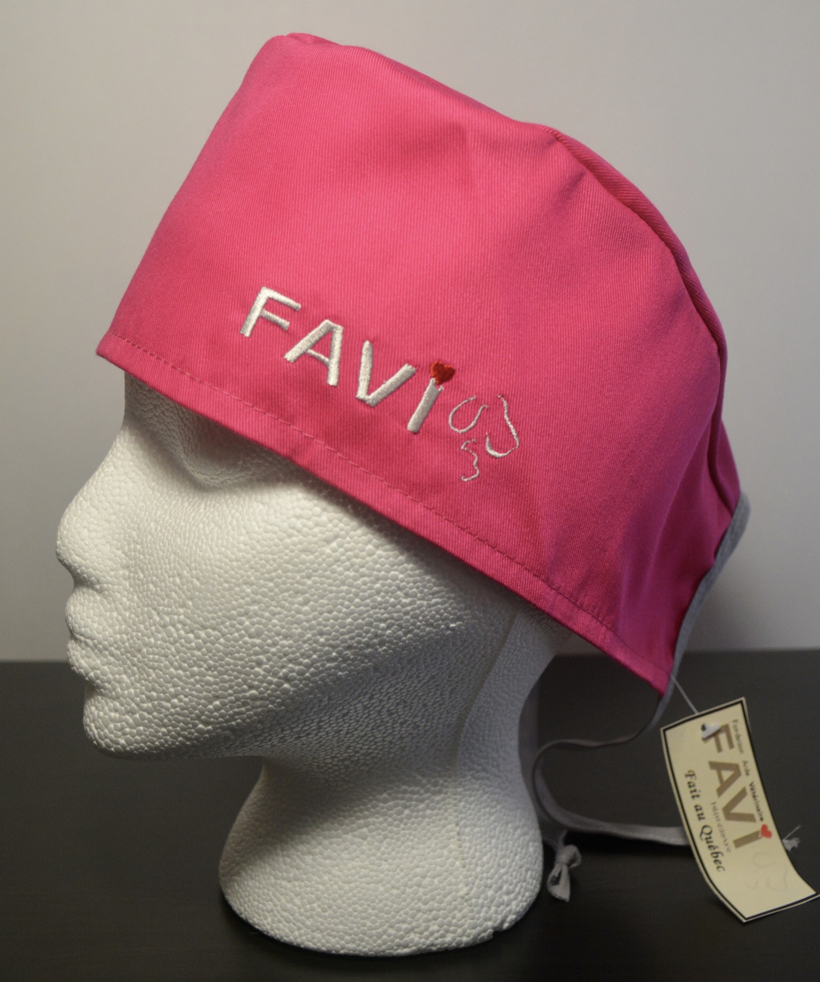chapeau de chirurgie Rose uni
