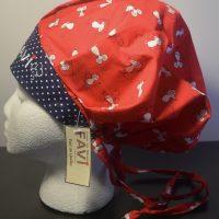 chapeau de chirurgie bouffant Les souris en skate Rouge