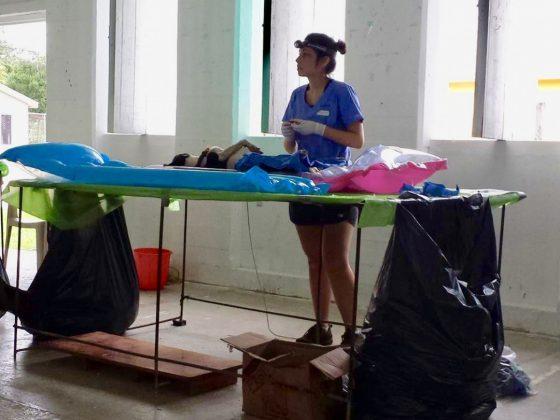 Bénévole de la FAVI au Belize