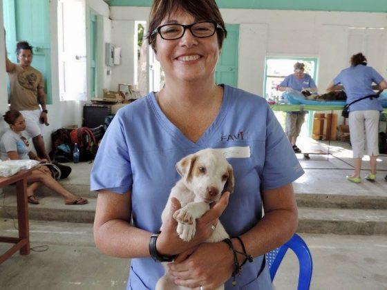 Une technicienne en santé animale au Belize