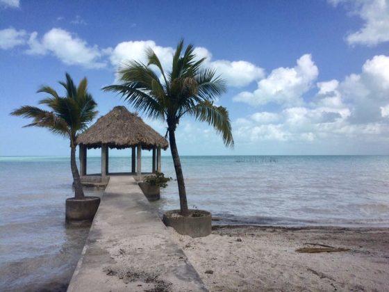 La baie de Corozal à Sarteneja Belize