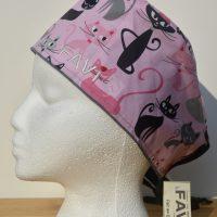 chapeau de chirurgie-folle des chats en rose