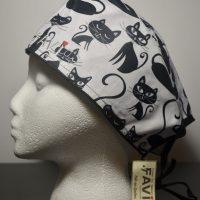 chapeau de chirurgie-folle des chats en noir et blanc