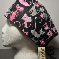 chapeau de chirurgie-folle des chats en noir