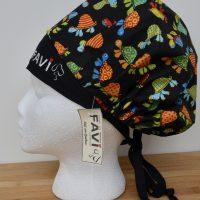 chapeau de chirurgie bouffant- les tortues