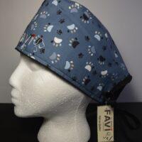 chapeau de chirurgie-les pattes en bleu