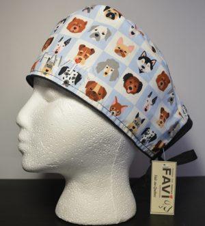 chapeau de chirurgie-les petites faces de chiens