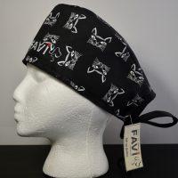 chapeau de chirurgie-les chats en noir