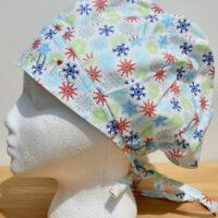 Chapeau de chirurgie bouffant, motif hivernal
