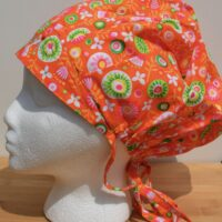 chapeau de chirurgie bouffant, orange festif