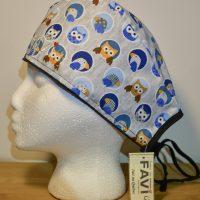 chapeau de chirurgie- hiboux et macareux