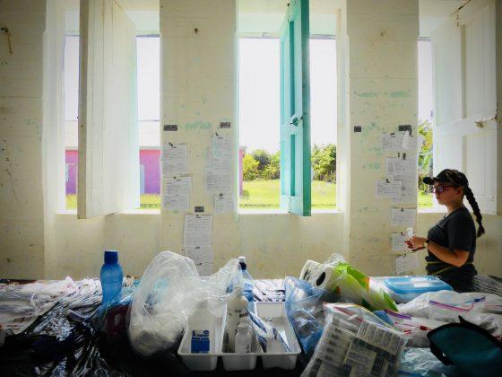 Zone préopératoire à la clinique de stérilisation FAVI au Belize