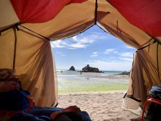 La FAVI en camping après son projet Baja California , Mexique
