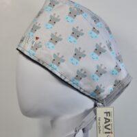 chapeau de chirurgie-girafes en gris