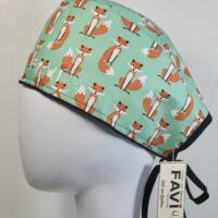 chapeau de chirurgie-les petits renards en vert