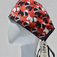 chapeau de chirurgie-les terriers écossais en rouge