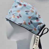 chapeau de chirurgie-les pélicans bleu menthe