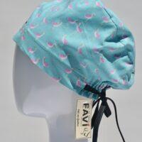 chapeau de chirurgie semi-bouffant-les jolis flamands