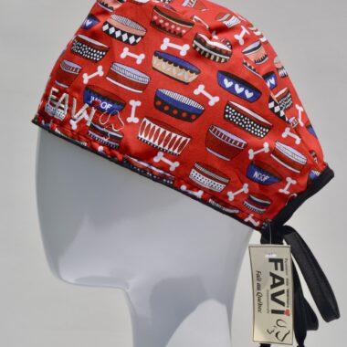 chapeau de chirurgie-woof! mes bols en rouge
