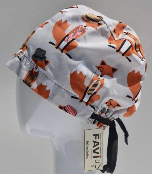 chapeau de chirurgie semi-bouffant-Monsieur Renard