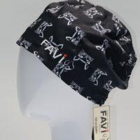 chapeau de chirurgie semi-bouffant-les chats en noir