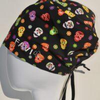 chapeau de chirurgie semi-bouffant-les joyeux crânes