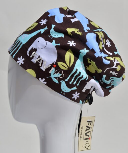 chapeau de chirurgie semi-bouffant-les animaux d'Afrique